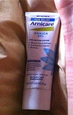 Arnica gel for stiff joints, muscle pain, and bruises. I swear by it.