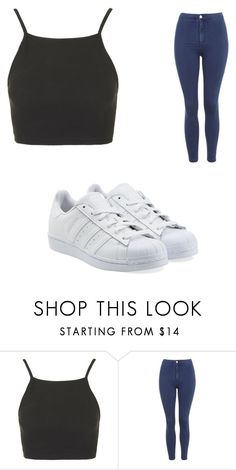 """Untitled #5698"" by clarry-sinclair ❤ liked on Polyvore featuring Topshop and adidas Originals"