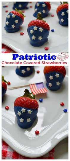 Patriotic Chocolate Covered Strawberries | Kid Friendly Things To Do