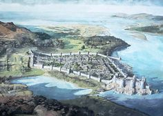 Reconstruction of Conwy Castle and town, early 14th century