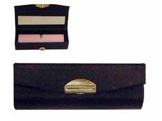 Black Satin Lipstick Case With Mirror - Pamper Gifts from IgnitionMarketing.co.za - Personal Care Gifts