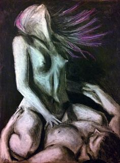 """""""The Dance of the Divine"""" by Kyra Coates. Charcoal on paper, 18"""" x 24"""". 25% of the net sale of this art is donated to the nonprofit Reach Studio, benefiting the homeless community of Denver"""