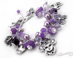 Butterfly charm bracelet butterfly jewelry by OohlalaBeadtique