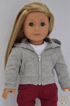 Item # 00039-14 This product includes ONLY Hoodie The T-shirts, Jeans, doll, her earrings, and shoes are not include. 1. Hoodie ●