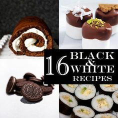16 Black and White Recipes! Definitely some good ideas here. I'm thinking maybe the pizza and/or black bean hummus. So I can serve real food, not just junk food. (Sadly.)