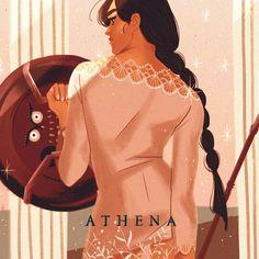 Greek Mythology Athena Art Print by mohtz Percy Jackson, Greek And Roman Mythology, Greek Gods And Goddesses, Religion, Legends And Myths, Hades And Persephone, Lore Olympus, Bd Comics, Ex Machina