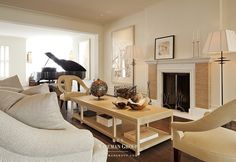 Transitional living room designed by San Francisco interior designer firm The Wiseman Group