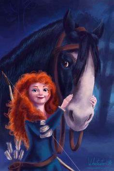 Merida & Angus Disney Love, Disney Magic, Disney Pixar, Disney Stuff, Brave Disney, Disney Princess Merida, Disney Princesses, Real Princess, Kid Movies