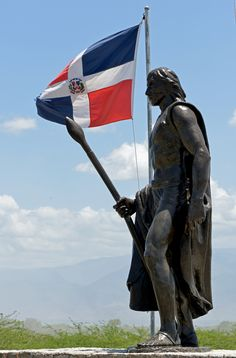 Statue of the Cacique Enriquillo. Enriquillo led the Taino in a revolt, and held out for over 13 years in the Sierra Bahoruco region until finally surrendering in 1533.
