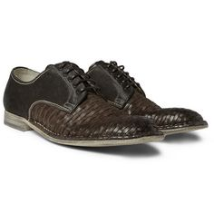 Dolce & GabbanaWoven-Leather Derby Shoes