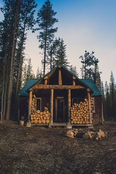 Beautiful and simple rustic cabin ... Plus you don't need to go far for the firewood.