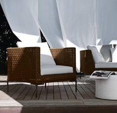 Armchair Charles Outdoor -B&B Italia Outdoor - Design by Antonio Citterio