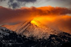 Mordor by NikosPavlakis  Taigetos Greece Landscapes Messinia clouds fire forest light mountain sky snow sun sunrise sunset tr
