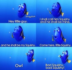 Dory Makes Friends and Enemies With a Jellyfish Named Squishy In ...
