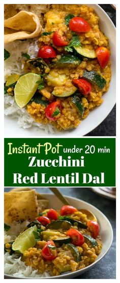 Make Instant Pot Red lentil Zucchini dal in 20 minutes. This Indian dal recipe… Make Instant Pot Red lentil Zucchini dal in 20 minutes. This Indian dal recipe is low calorie, oil free and vegan. Goes well with roti and rice. Red Lentil Recipes, Veggie Recipes Healthy, Vegetarian Recipes Videos, Indian Food Recipes, Vegan Recipes, Low Calorie Vegetarian Recipes, Vegetarian Dinners, Snacks Recipes, Eat Healthy