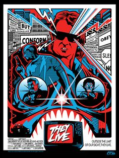 Retro Pop Art They Live Poster