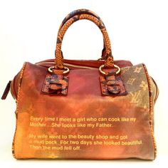 Limited Edition Louis Vuitton by Richard Prince Mancrazy Jokes Bag. Designed by Richard Prince for the Spring/Summer 2008 collection. Collectors item. Please call (949)715-0004 for inquiries.
