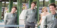 Vera Wang Wedding Dress First Look on St Simons Island Dock