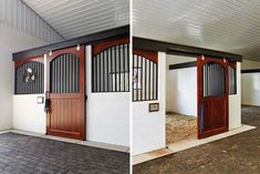Choose a bright and spacious barn over a smaller barn. Barn Stalls, Horse Stalls, Dream Stables, Dream Barn, Small Horse Barns, Horse Barn Plans, Barn Apartment, Barrel Horse, Horse Ranch