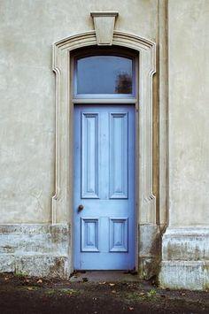 Outdoor Teal Blue Front Door Arch Backdrop - 6253