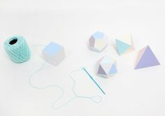 geometric paper garland with a great palette