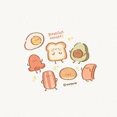 KORAWIA (@korawia) • Fotos y vídeos de Instagram Kawaii Doodles, Cute Doodles, Kawaii Art, Cute Food Art, Cute Art, Cute Screen Savers, Bubbles Wallpaper, Dibujos Cute, Bullet Journal Art