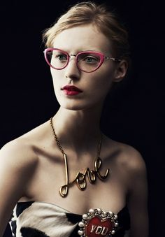 Julia Nobis for Lanvin Eyewear Autumn/Winter 2013 Campaign. #fashion