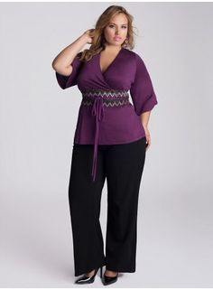 Miwa Plus Size Top in Azalea - Just In by IGIGI
