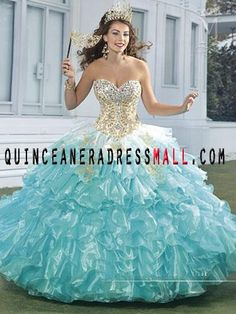 Affordable Sweetheart Ball Gown Floor Length Blue Vestidos de ...