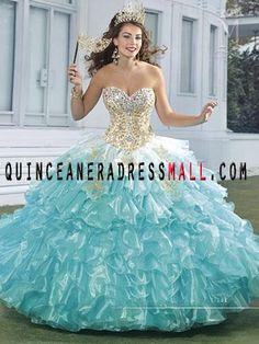 2016-Quinceanera-Dresses | 2016 aqua quinceanera dresses | Pinterest