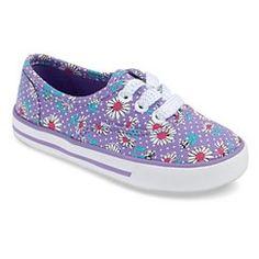 Toddler Girl's Circo® Kathryn Floral Print Sneakers - Purple