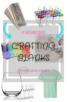 Crafting Blanks Great for DIY Projects and your small biz! #crafts#diy#how-to#blanks#barnwood#tumblers#koozies#tshirtblanks