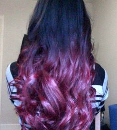 red ombre hair using Organics No Limits Red (PPD and PTD free)