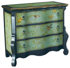 Hammary T71171-00 Hidden Treasures Accent Chest in Painted Aqua and Black - traditional - Dressers Chests And Bedroom Armoires - Beyond Stores