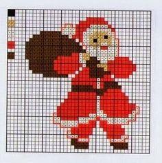 Gráficos papai noel ponto cruz, natal, bordados, graphics santa cross stitch,