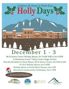 North Bend celebrates Holly Days December 1 to 3, 2017