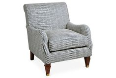 Mandalay Club Chair, Burmese Navy