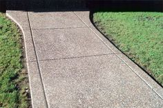 exposed aggregate sidewalk | Decorative Concrete