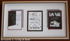 Bernadette V. / élève de Manel / trio de pavés droits Blog, Frame, Picture Frame, Blogging, Frames