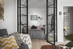 Small apartment with glass doors