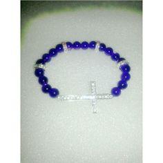 Eggplant Cross stretch bracelet