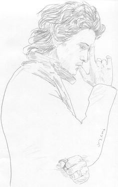 Orlando Bloom. pencil sketch, graphite drawing