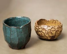 Cup and small bowl. Raku inspired ceramics by Laura Allen Müller. Every item is unique and handcrafted in Copenhagen.