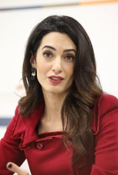 Pin for Later: What, You Expected Amal Clooney to Wear a Boring Old Red Suit?