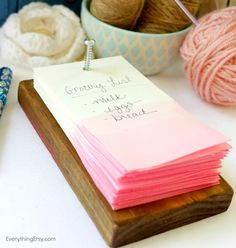 how to make a rustic note pad - i love the pretty dyed papers, too!