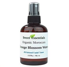 PACK OF 3  Premium 100 Pure Organic Moroccan Orange Blossom Neroli Water  4oz Sprayer  Imported From Morocco  Also Edible Rich in Vitamin A and C it is Packed With Natural Antioxidants and AntiInflammatory Qualities Perfect for Reviving Hydrating and Rejuvenating Your Face and Neck  By Sweet Essentials ** Visit the image link more details.