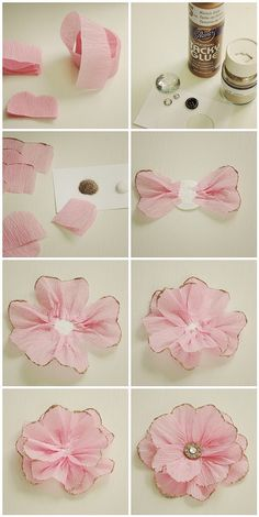 Pretty Ribbon Idea. Figure it out from the pictures only.