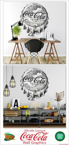 Coca-Cola Ice Cold Bottle Cap Decal has graphic appeal for your home, business or dorm wall decor. With over 500+ wall decals to choose from you're sure to find the right Coke decal for your decorating project. Application and removal are easy and won't damage walls. Made in the USA. #retroplanet #walldecals #walldecor #kitchendecor #cocacola #vintagead #cocacolacollectibles #cocacoladecor #decoratingideas #officedecor #roomdecor #apartments #wallstickers #wallgraphics Retro Living Rooms, Living Room Decor, Coca Cola Life, Coca Cola Decor, Always Coca Cola, Coca Cola Bottles, Vintage Coke, Dorm Walls, Wall Decals
