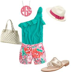 Preppy, Girly and Monogrammed. What is it about this monogram trend? Back to the summer days :(