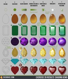 Exercise 26 Results: Shading Gems Step by Step by CGCookie.deviantart.com on @DeviantArt